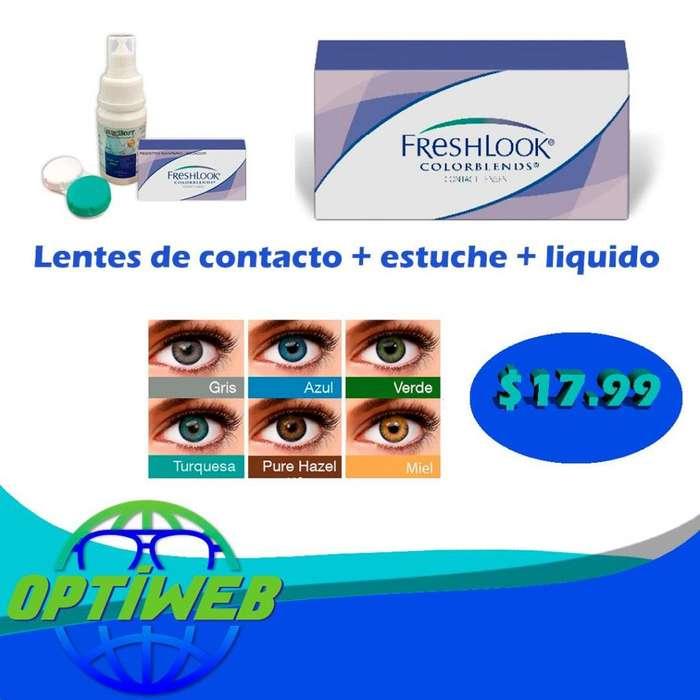 Lentes de contacto <strong>cosmeticos</strong> en varios colores
