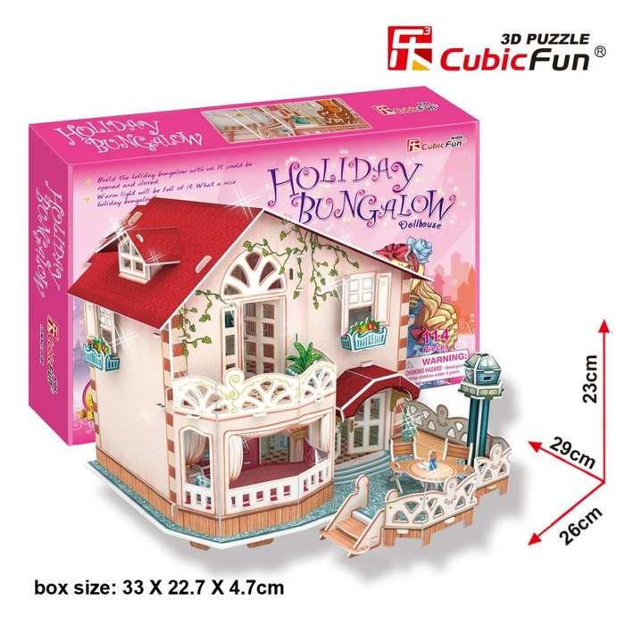 Rompecabezas 3d Holiday Bungalow Dollhouse P634h