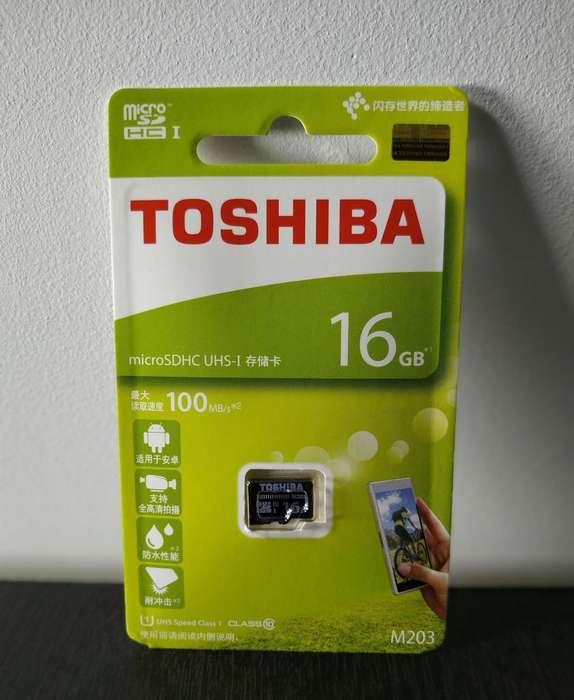 MicroSD 16GB U1 Class10 SDHC TOSHIBA (Original)