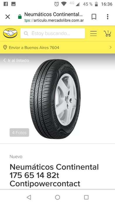 Vendo 4 Neumáticos 175.65.14.continental