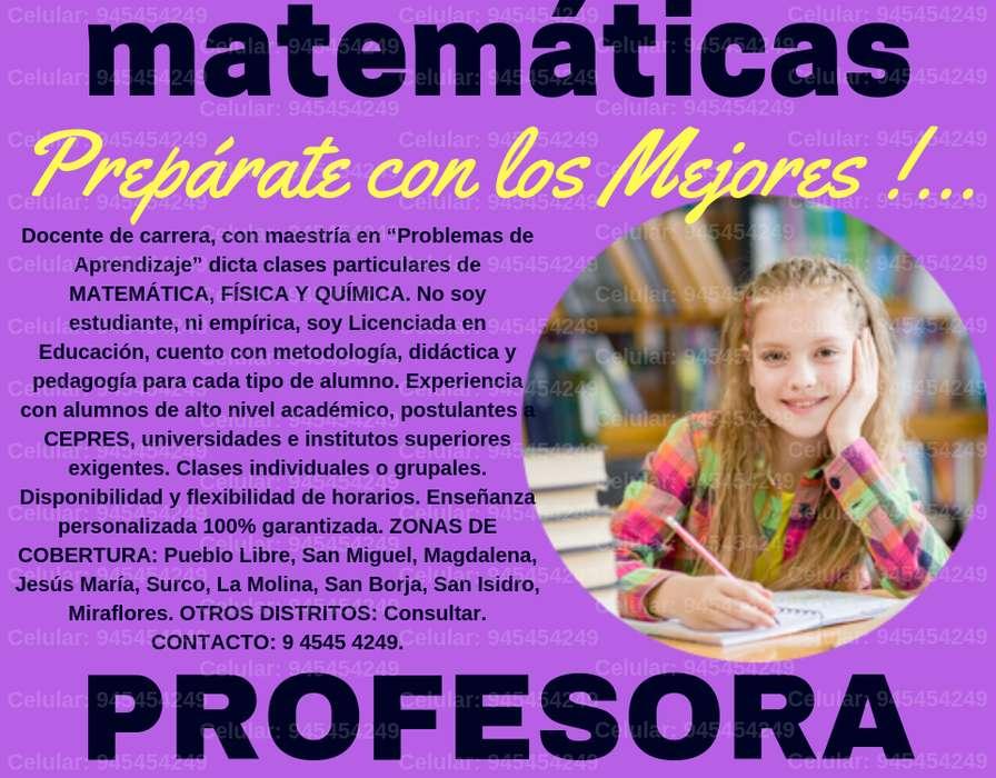 PROFESORA MIS MARIELLA LIC. EN EDUCACIÓN MATEMÁTICA Y CIENCIAS NIVEL CEPRE ESCOLARES Y UNIVERSITARIOS CASOS DIFÍCILES