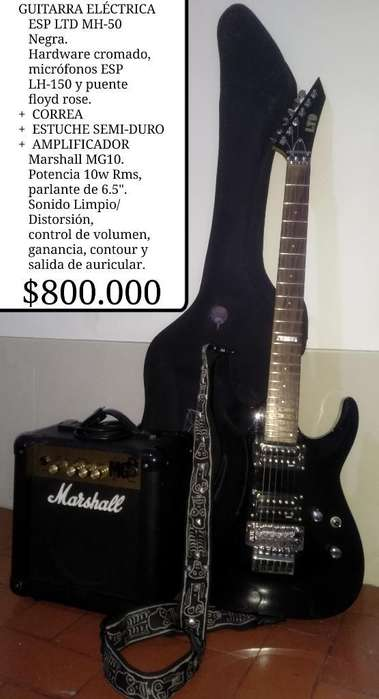 Combo Guitarra Esp Ltd Mh-50 Negociable