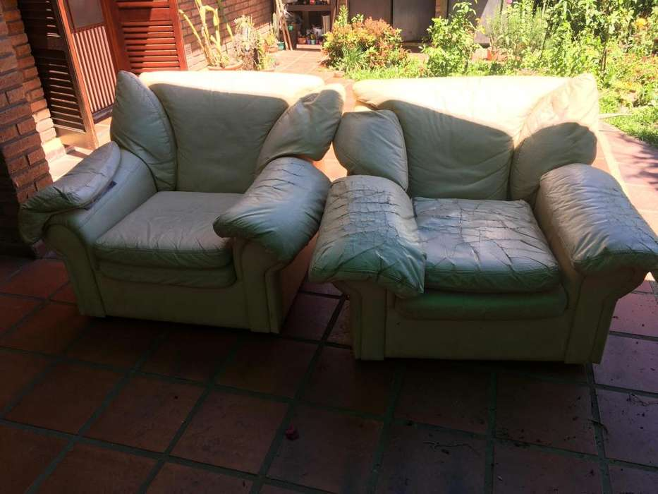 DOS sillones sofá grandes desmontables a tapizar
