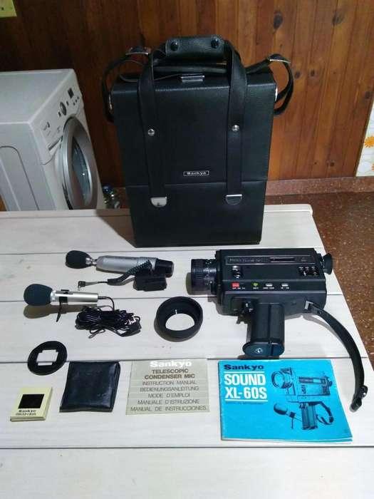 Filmadora Super 8 Sankyo Sound Xl-60s Con Accesorios
