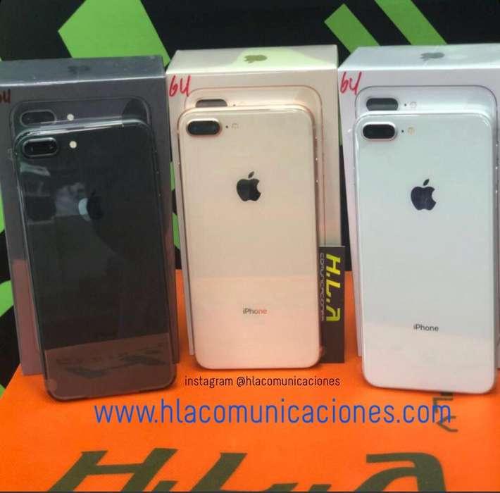 I Phone 8 Plus 64Gb nuevos factura garantia domicilio sin costo OBSEQUIO SILICON HLACOMUNICACIONES