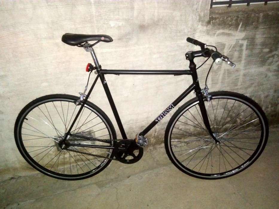 Bicicleta Fixie todo aluminio