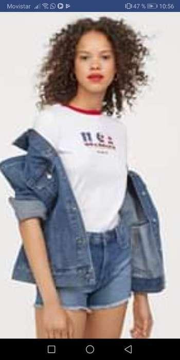 Camiseta H&m Talla Xs
