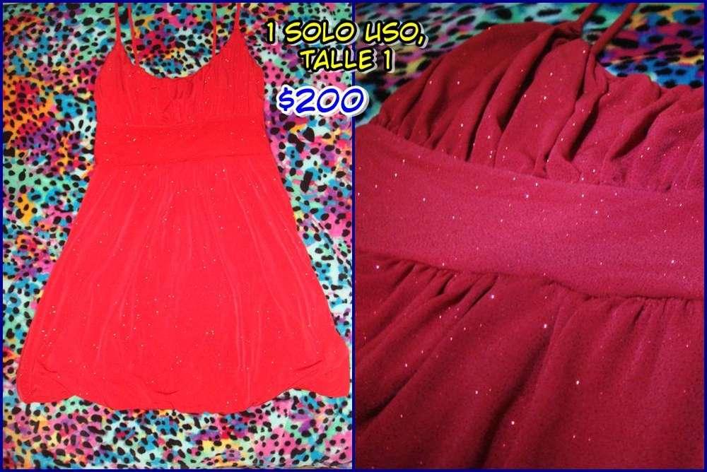 Vestido de Fiesta Rojo con Brillos