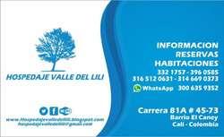 Habitaciónes equipadas Buen precio Diario WI FI Tv LCD tv cable Cama BARRIO CANEY Sur de CALI buen barrio