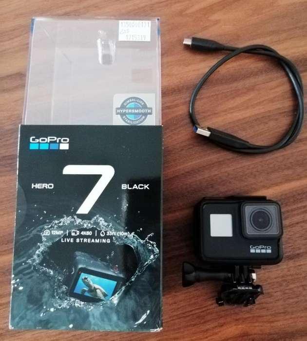 Camara GoPro Hero 7 Black como nueva 4K - Full HD - HD - Control por Voz