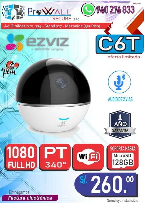 Cámara WiFi Ezviz C6T 1080p Full HD con Movimiento