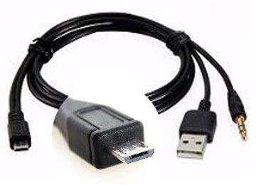 CABLE USB A MICROUSB PLUG 3.5 M PARA PARLANTE PORTATIL