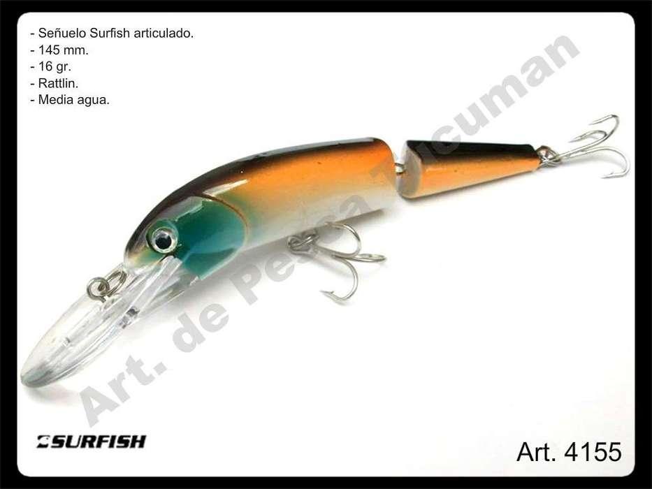 Señuelo Surfish articulado 145 mm. Pesca.