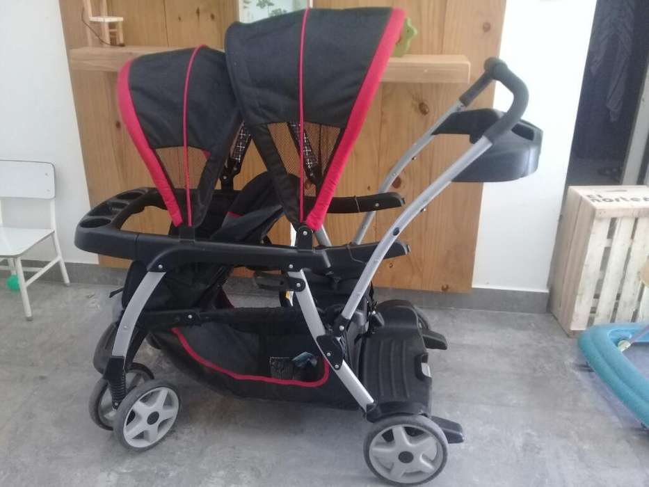 Coche Graco Grow Hermanos Doble