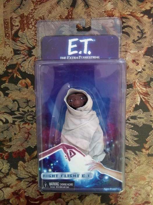 Figura de acción NECA: extraterrestre, escala de 7 Pulgadas , serie 2 Vuelo nocturno ET