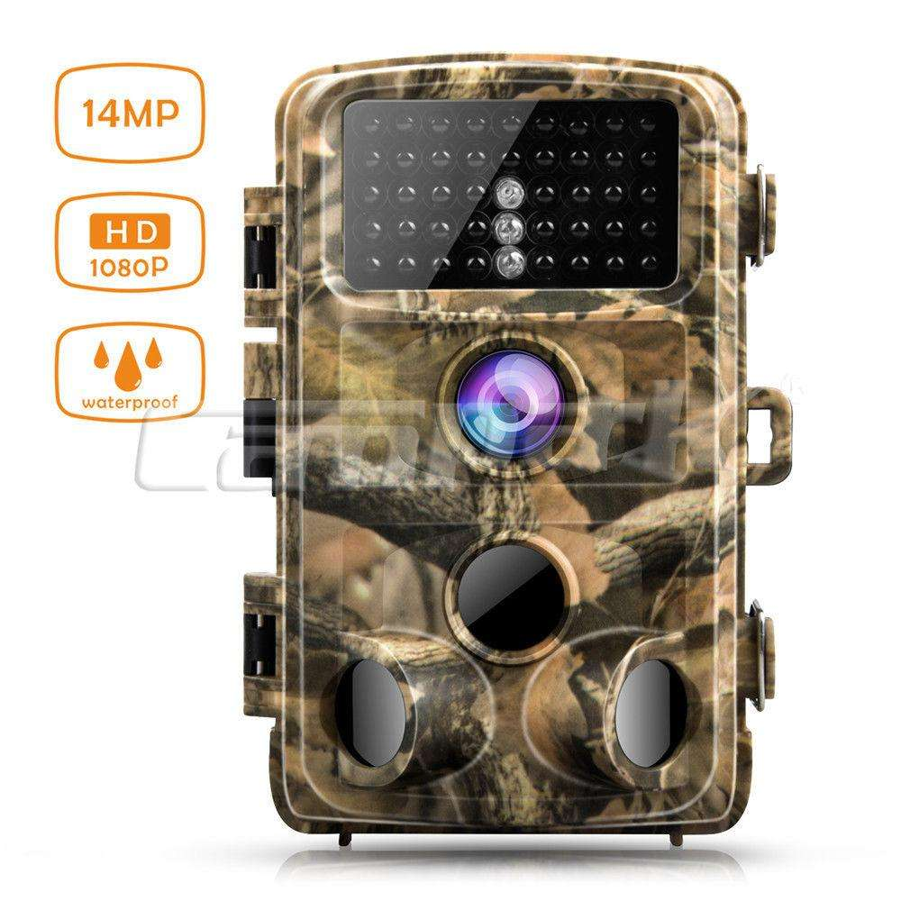 Camara vision nocturna infraroja Campark Trail Game Camera 14MP FHD 1080P Waterproof IR Hunting Scouting Wildlife