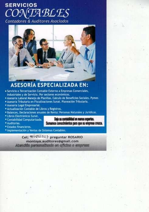 CONTADORA PUBLICA - SERVICOS CONTABLES - PRECIOS DESDE S/.50 SOLES