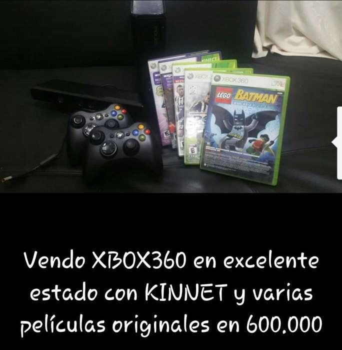 Vendo Xbox 360 Kinnet Peliculas Origi