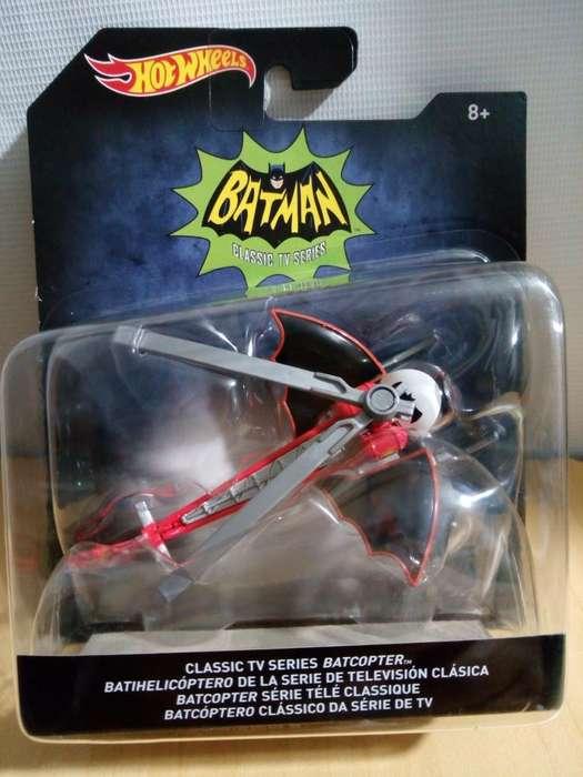 Batihelicoptero Batman CLASSIC TV SERIES Hotwheels ESCALA 1/50 EN BLISTER