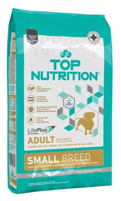 Top Nutrition Adulto Small x 7,5kg