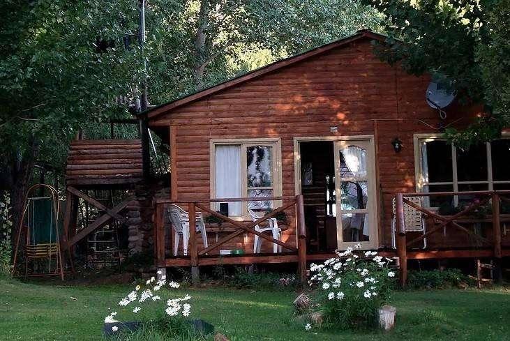 nj81 - Cabaña para 3 a 8 personas con pileta y cochera en Uspallata