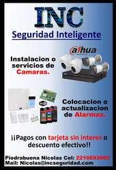 Servicios profesionales de camaras de seguridad y alarmas.