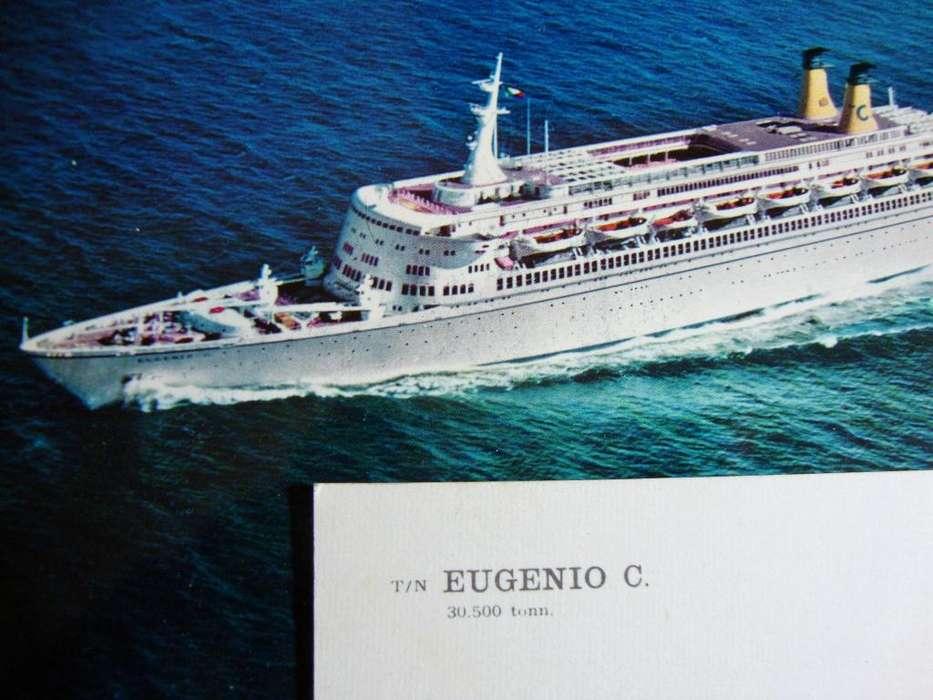 Postales y sobres Crucero Eugenio C Lote x 5 unid. Sin uso