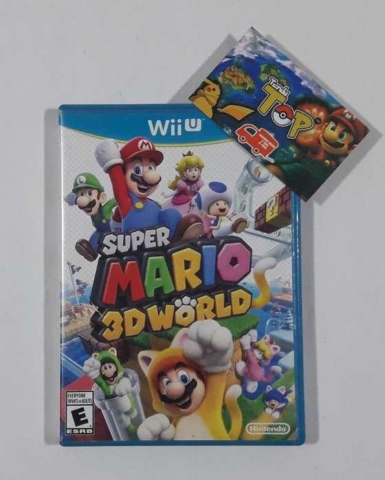 NINTENDO WII U, SUPER MARIO 3D WORLD, ABIERTO CON POCO USO , TIENDATOPMK