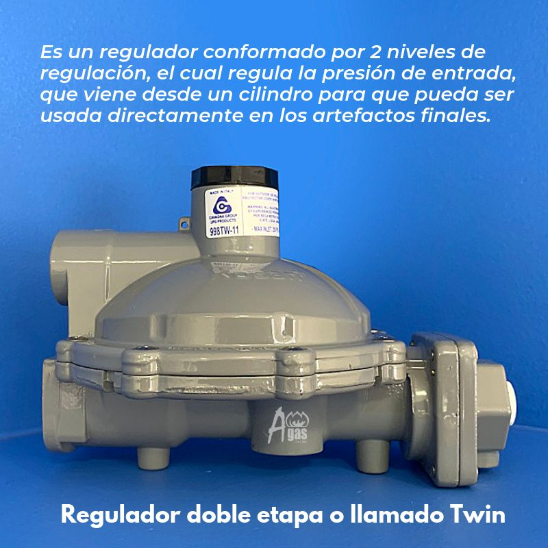 Regulador de gas DOBLE ETAPA 998TW-11
