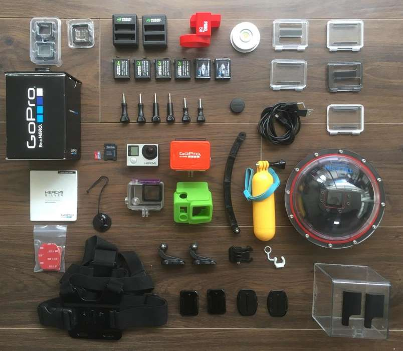 Gopro Hero 4 Silver Fuuuuuull Accesorios