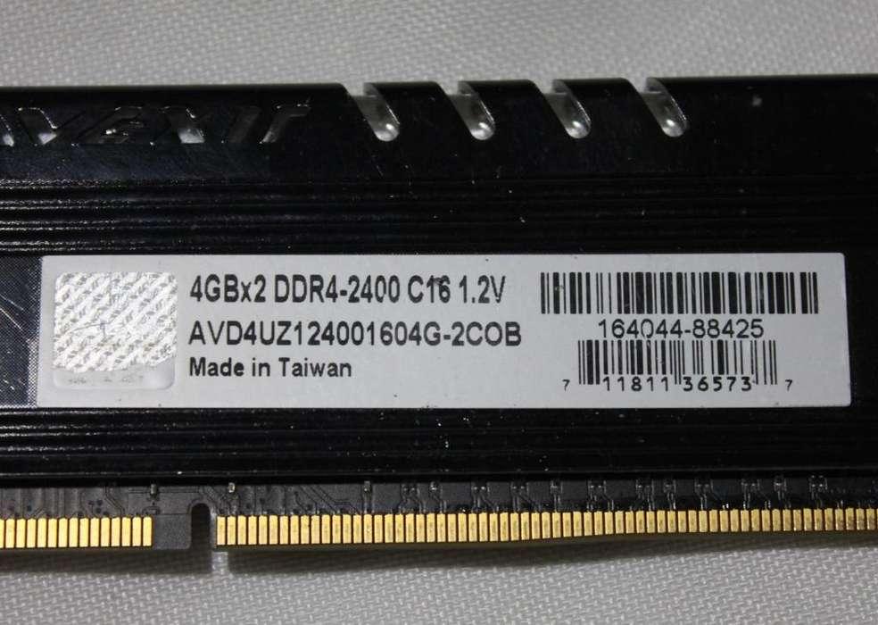 <strong>memoria</strong> AVEXIR DDR4 2400 4GB con disipador.