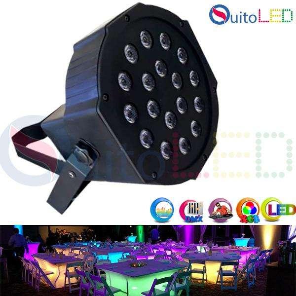 Tacho De 18 Luces Led Audioritmico Dmx Dj. Eventos Disco Rgb QUITOLED