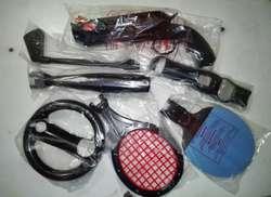 Kit de 7 Accesorios De Control Movimiento PS3 PS4 Playstation Move Sport Completos y NUEVOS