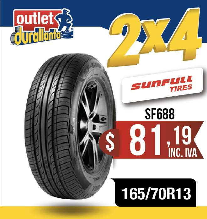 <strong>llanta</strong>S 165/70R13 SUNFULL SF688 CHEVROLET CORSA EVOLUTION N200 FIAT UNO