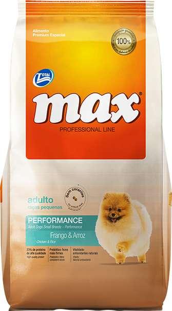 Total, Max Adulto Raza Pequeña Performance Pollo 8 Kg