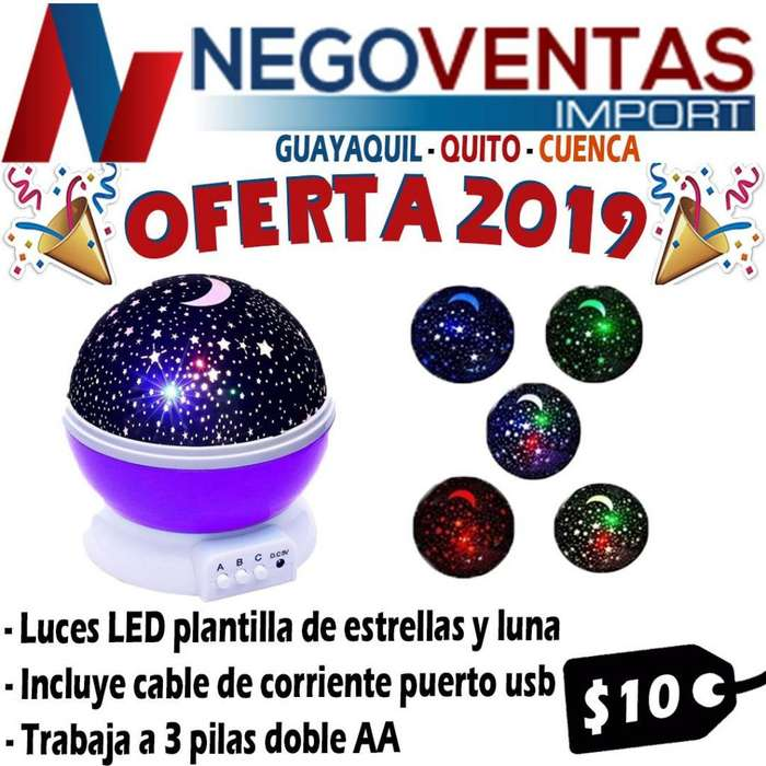 LAMPARA COSIMICA PROYECTA LUNA Y ESTRELLA