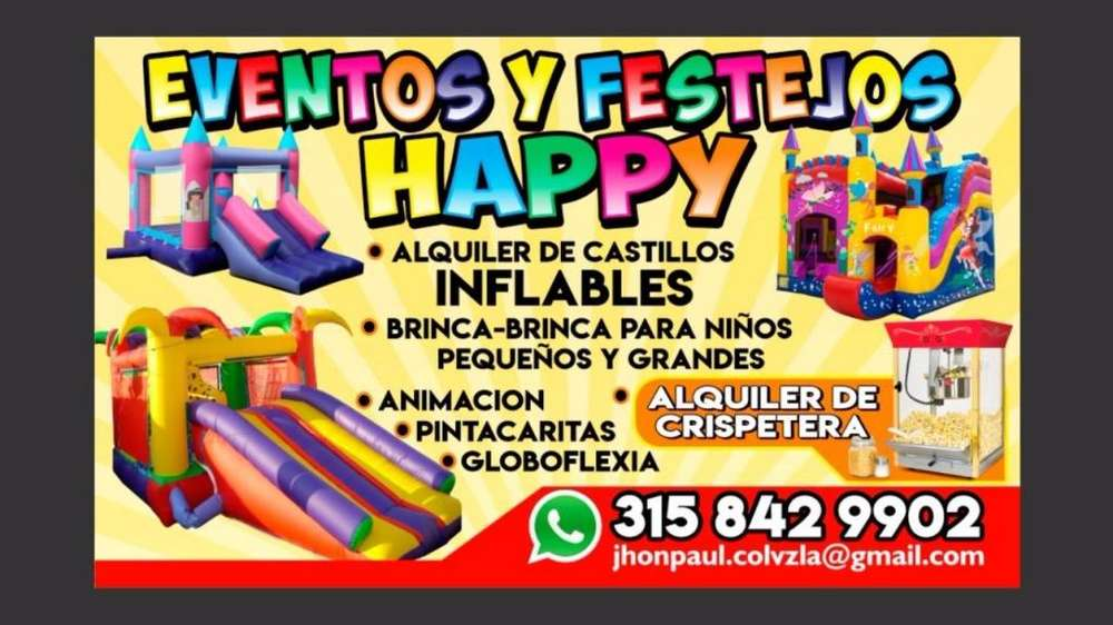 ALQUILER DE INFLABLES // CASTILLOS // BRINCA/BRINCA