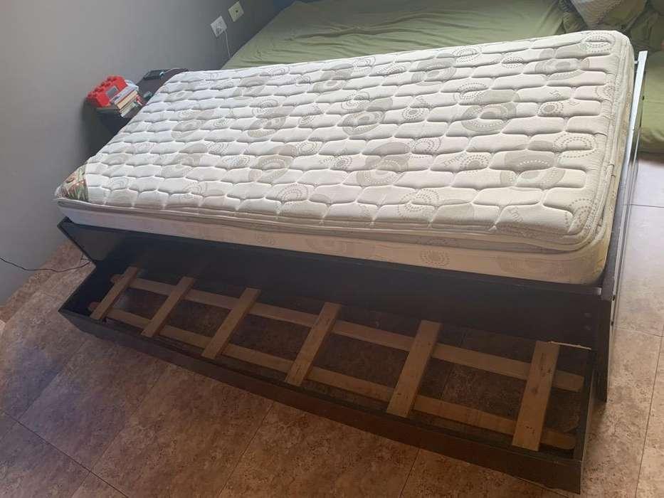 Cama 1 Plaza con Colchon y 2da cama baja