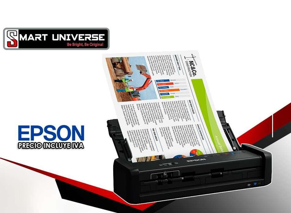 Escáner Epson Es300w Inalámbrico Dúplex Portátil