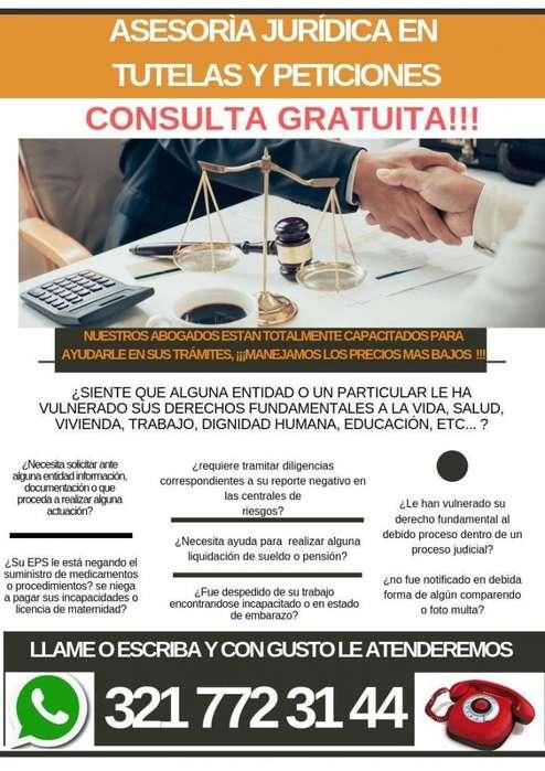 asesoria juridica tutelas y derechos de peticion