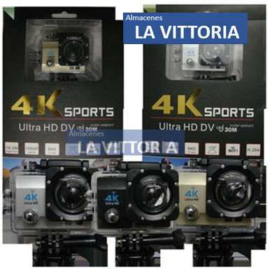 Camara Deportiva Sumergible 4k Wifi Action Cam 16mp Ultra hd