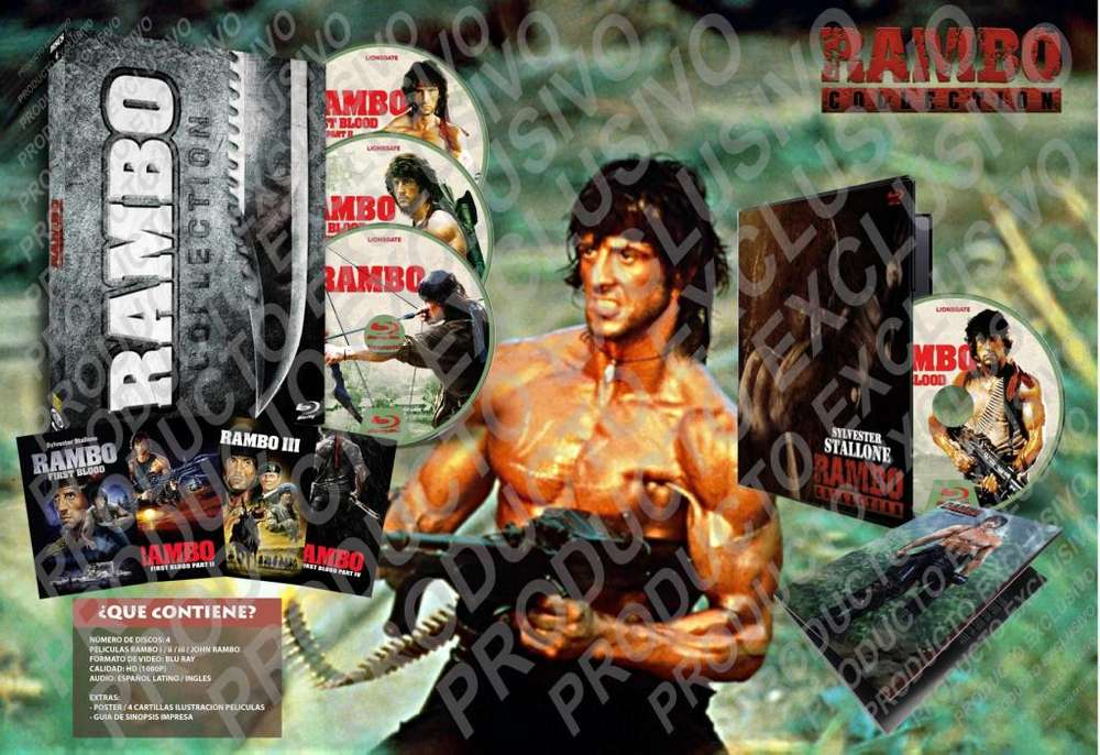 Rambo Coleccion De Peliculas Hd 1080p Latino