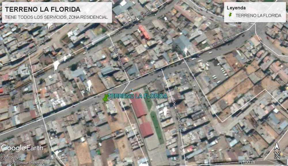 VENTA DE TERRENO EN ZONA RESIDENCIAL - LA FLORIDA - EL TAMBO - HYO
