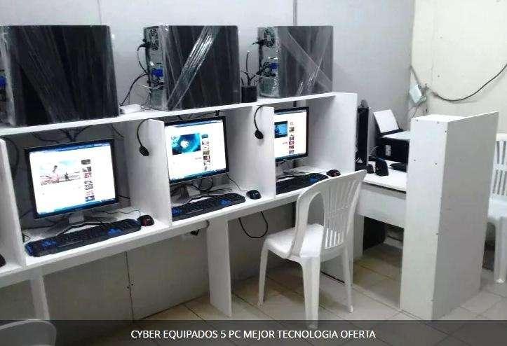 CYBER EQUIPADOS 5 PC MEJOR TECNOLOGIA MARCA HP, DELL