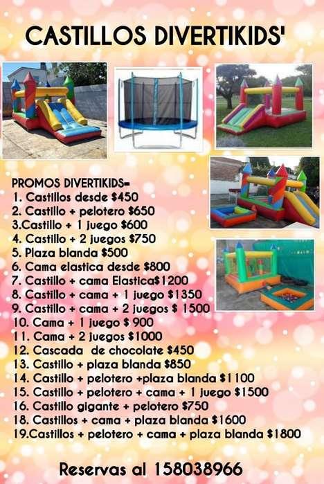 Cama Elastica Castillo Pelotero