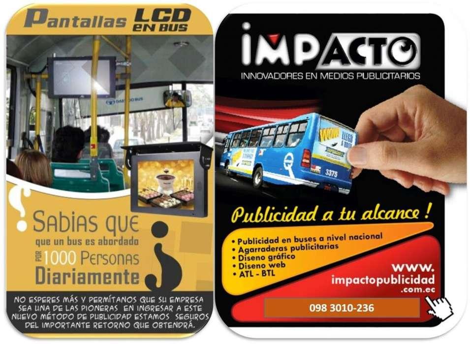 Publicidad en buses y via publica
