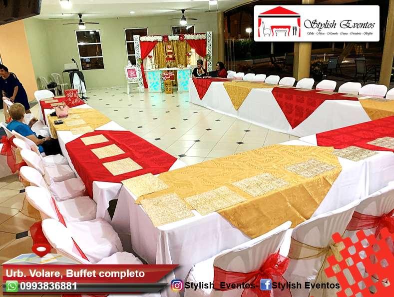 Alquiler de mesas, sillas, carpas para eventos