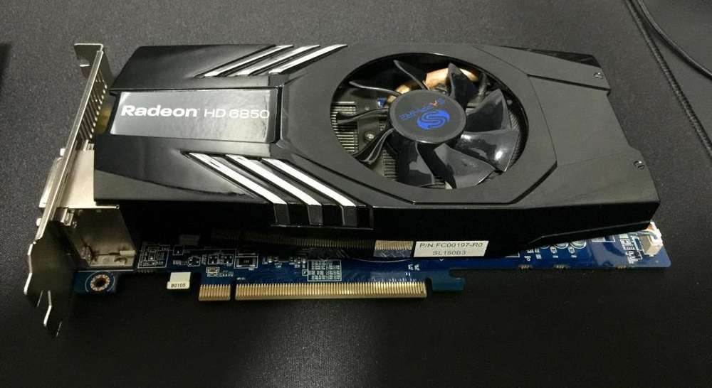 Tarjeta de video SAPPHIRE AMD HD6850 1GB GDDR5