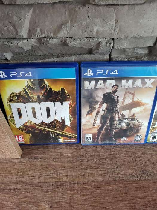 Vendo Doom Y Mad Max Pará Ps4