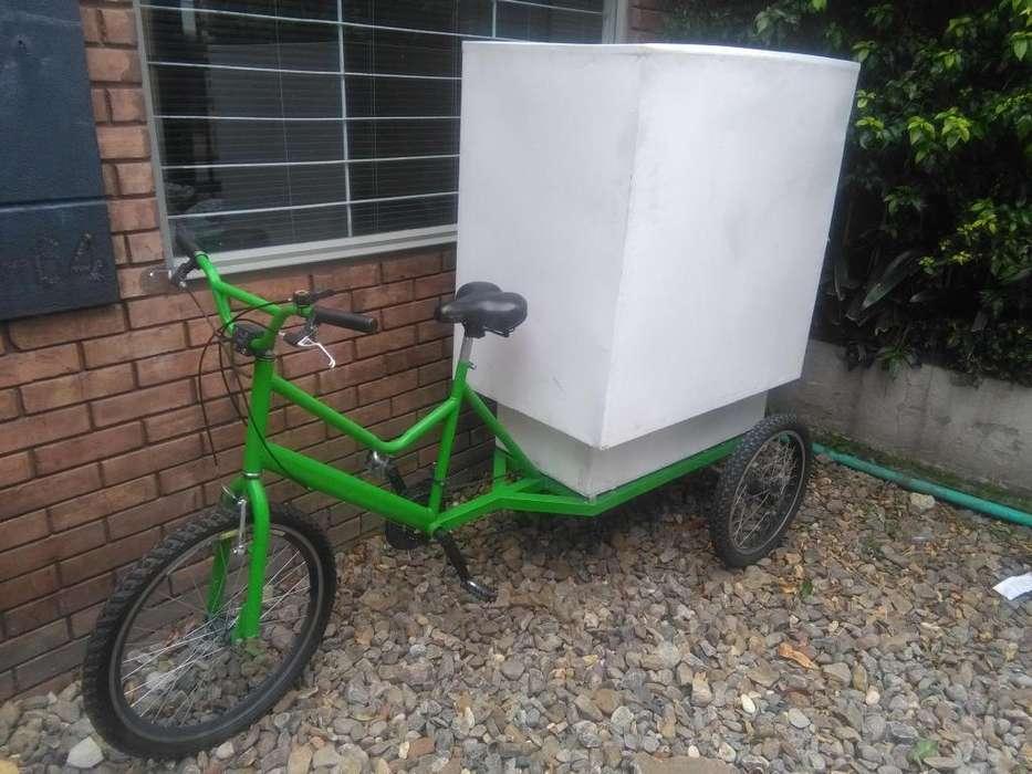 Triciclo para carga o transporte de mercanca